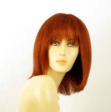 perruque femme 100% cheveux naturel longue cuivré intense ref ISA 130