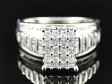 Ladies White Gold Finish Princes Cut Diamond Engagement Wedding Band Ring .63 Ct