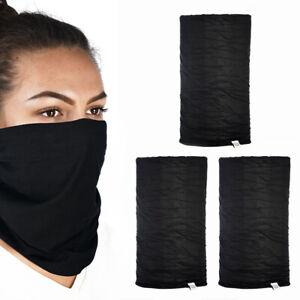 3 Oxford Confortable Noir Tête & Cou Tube / Écharpe/Bandana/Bonnet/Masque