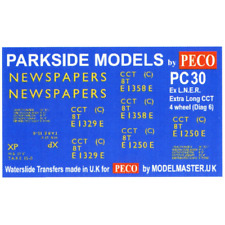 Modelmaster MMPC30 Ex LNER CCT Transfers -BR Livery (Parkside PC30) OO Gauge