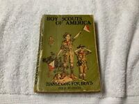 Boy Scouts Official Handbook for Boys 32nd Edition May 1925
