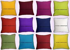 5 PC Wholesale Lot Plain Solid Indian Cotton Cushion Pillow Cover Bed Sofa Throw