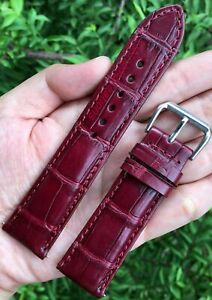 Genuine Crocodile Watch Strap Band Leather Replacement Band Men