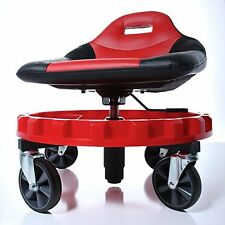 Mechanic Creeper Seat Rolling Work Stool Tools Tray Chair Auto Shop Gear