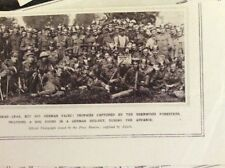 b1f  ephemera ww1 picture sherwood foresters with captured german equipment