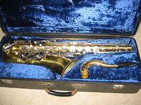 Vintage Tenor Saxophone Weltklang Tenorsaxophone Needs service Orig. Mouthpiece