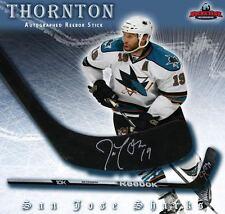 JOE THORNTON Signed Reebok Stick w/ all Black Blade - San Jose Sharks
