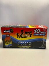 5-Hour Energy, Grape, 1.93 Fl Oz, 10 COUNT Value Pack, Regular Strength