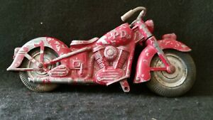 """1950's Kidde Toy/Hubley Motorcycle """"PD"""" Toy Diecast Metal RARE"""