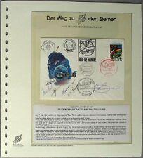 s1746) Kosmonautenpost des deutschen Kosmonauten Flade 1992 - Bordpost MIR 5 OU