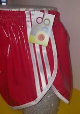 Retro PVC Sprinter Shorts S to 4XL, Red & White