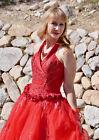 Red Gown Women Cosplay Costume Princess Dress Halloween Sz 10 M Quinceanera