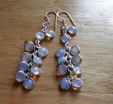 Opalite Lab-Created Sterling Silver Fine Earrings
