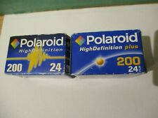 2 x Polaroid High Definition ISO 200 Films ~ 24 x 36mm ~ New ~ Unopened.
