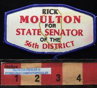 Vtg 1980s POLITICS Patch RICK MOULTON STATE SENATOR 56th District IL 62E4 xe