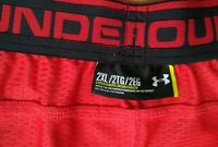 2XL UNDER ARMOUR HEAT GEAR RED MEN'S BASKETBALL MESH DESIGNER SPORTS SHORTS