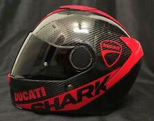 Shark SPARTAN CARBON Skin with DUCATI Stickers FREE Dark Visor Motorbike Helmet