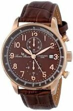 NEW Lucien Piccard LP-10503-RG-04-BR Men's Montilla Series Brown Leather Watch