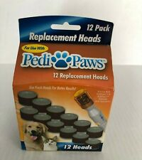 Pedi Paws Replacement Filing Heads - 1 Pack of 12 Heads NEW
