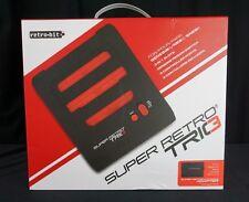 Super RetroTRIO Console NES/SNES/Genesis 3 in 1 System Red/Black Retro Trio E1