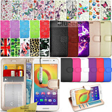 For Alcatel A3 5046 (2017) -Wallet Leather Case Flip Cover + Screen Protector