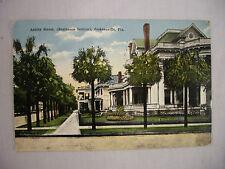 VINTAGE POSTCARD TOWN VIEW ON ASHLEY STREET IN JACKSONVILLE FLORIDA 1918