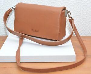 Tan Faux Leather Shoulder Handbag Medium size Double Strap BNWOT