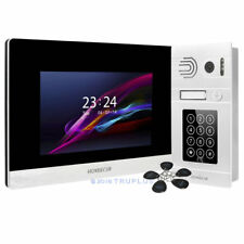 HOMSECUR 7'' Video Entry Intercom with Recording & Password Access & DoorRelease