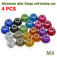 M4 Wheel Lock Nuts Aluminum Alloy for RC Model Crawler Car 1/10 Axial SCX10