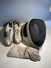 Prieur-Paris Fencing Mask White Made in France With Adidas Shoes And Glove