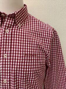 Ben Sherman Original - Red Mix Check Button Collar Long Sleeve Shirt - Medium