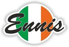 Ennis Bandera de Irlanda Pegatina para Coche Camión Portátil Tablet Nevera