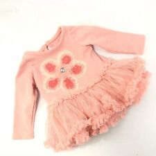 Nannette Baby Girl Top Ruffle Pink Floral Rhinestone Tutu Size 0 3 Months