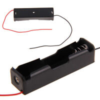 2/10Pcs Single Battery Storage Holder Box Case For Rechargeable 18650 +Wire Lead
