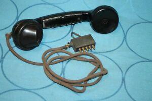 Hörer zum Feldtelefon Wehrmacht Hersteller TN mit WaA Stempel WW2 datiert 1938
