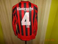 Eintracht Frankfurt Original Jako Langarm Junioren Matchworn Trikot + Nr.4 Gr.S