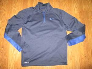Mens NIKE THERMA FIT  athletic quarter zip shirt sz L Lg golf