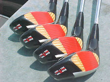 Ping Eye 2 Golf Clubs Woods Refinished set Driver 3 4 5 w New Black Widow Grips