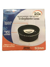 Zeikos Pro High Def 2.0X Telephoto Lens 52mm NEW