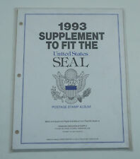 New Minkus Stamp Album Pages 1993 Supplement Fit The Seal  Postage Stamp Album