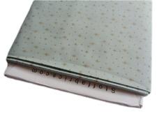 LQ Fabric Christmas gold star dot spot blue cotton fabric craft - per 1/4 metre