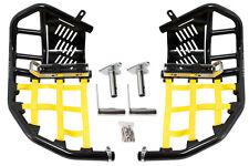 Suzuki LTZ 400  Nerf Bars  Pro Peg 09 and up Alba Racing  black bars yellow nets
