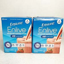 8x Ensure Enlive Advanced Nutrition Shake Strawberry 8 - 8oz Bottles EXP 5/20