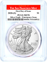 2020 (S) $1 Silver Eagle Emergency Issue PCGS MS70 First Day of Issue