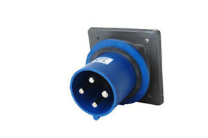 PS360B6-S PIN & SLEEVE SPLASHPROOF INLET DOUBLE POLE THREE WIRE 60 AMP 250 VOLT.