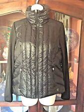 NEW Betsey Johnson  Womens Black Lightweight Outerwear Puffer Jacket Coat size M