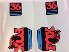 FOX Performance Series Fork 36 Blue / Red Left & Right Decal Set 36mm Stickers