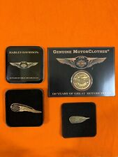 HARLEY DAVIDSON 110TH 110 ANNIVERSARY WINGED COLLECTORS COIN & TWO PINS STURGIS