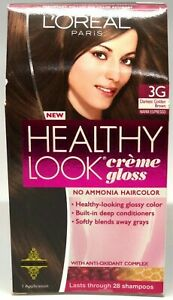 L'Oreal Healthy Look Gloss 3G Darkest Golden Brown Hair Color