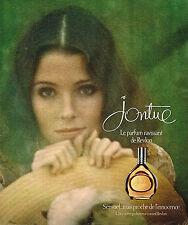 PUBLICITE ADVERTISING 104  1976  REVLON  parfum femme JONTUE